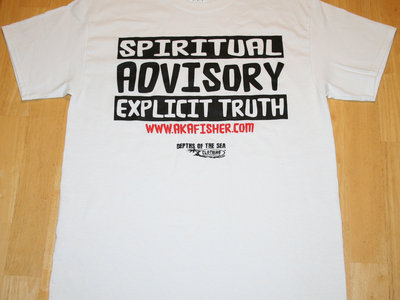 SPIRITUAL ADVISORY T-SHIRT - LIMITED EDITION - A.K.A. Fisher - Christian T-Shirt - Depths of The Sea Clothing - Share Your Faith Today! main photo