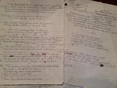 YOUR CHOICE Of personal handwritten lyrics by Graham Bonnet himself. main photo