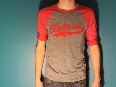 Clockwork Baseball Tee - Red/Gray main photo