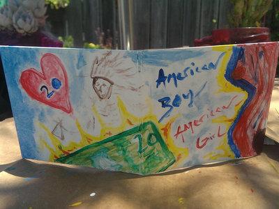 """American Boy / American Girl"" Hand Painted Sleeve. main photo"