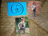 David 9 Lunas Signed Postcard photo