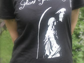 Ghost Painted Sky women's cut black T-shirt photo