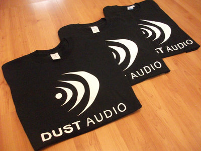 Dust Audio Limited Edition T-Shirt - Black / White Logo main photo