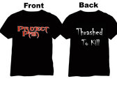Limited Edition Thrashed To Kill T-Shirt incl. digital CD !! photo