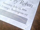 Gig Poster: Made by Robots ½ Lounge, Planes and Geese photo