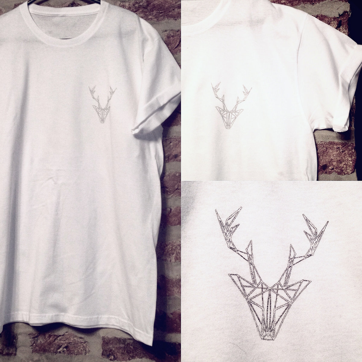 Geometric Antlers T Shirt Design White Lotus Clothing