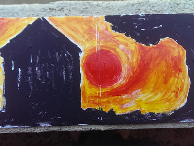 """Fire Sky"" Hand Painted Sleeve with Master Reference Disk. main photo"