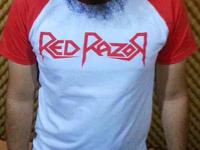 White/Red Mosh Crew Raglan main photo