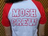 White/Red Mosh Crew Raglan photo