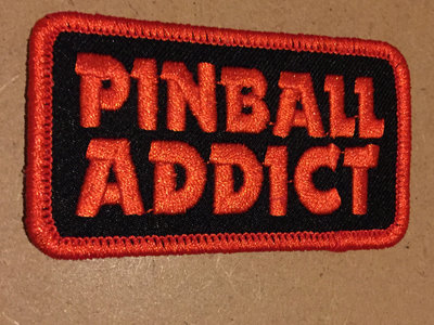 "Pinball Addict embroidered patch by K-MAXX 3"" wide main photo"