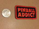 "Pinball Addict embroidered patch by K-MAXX 3"" wide photo"