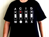 "AcidWorx 303 Design T-Shirt Black + ""FREE"" Sticker photo"