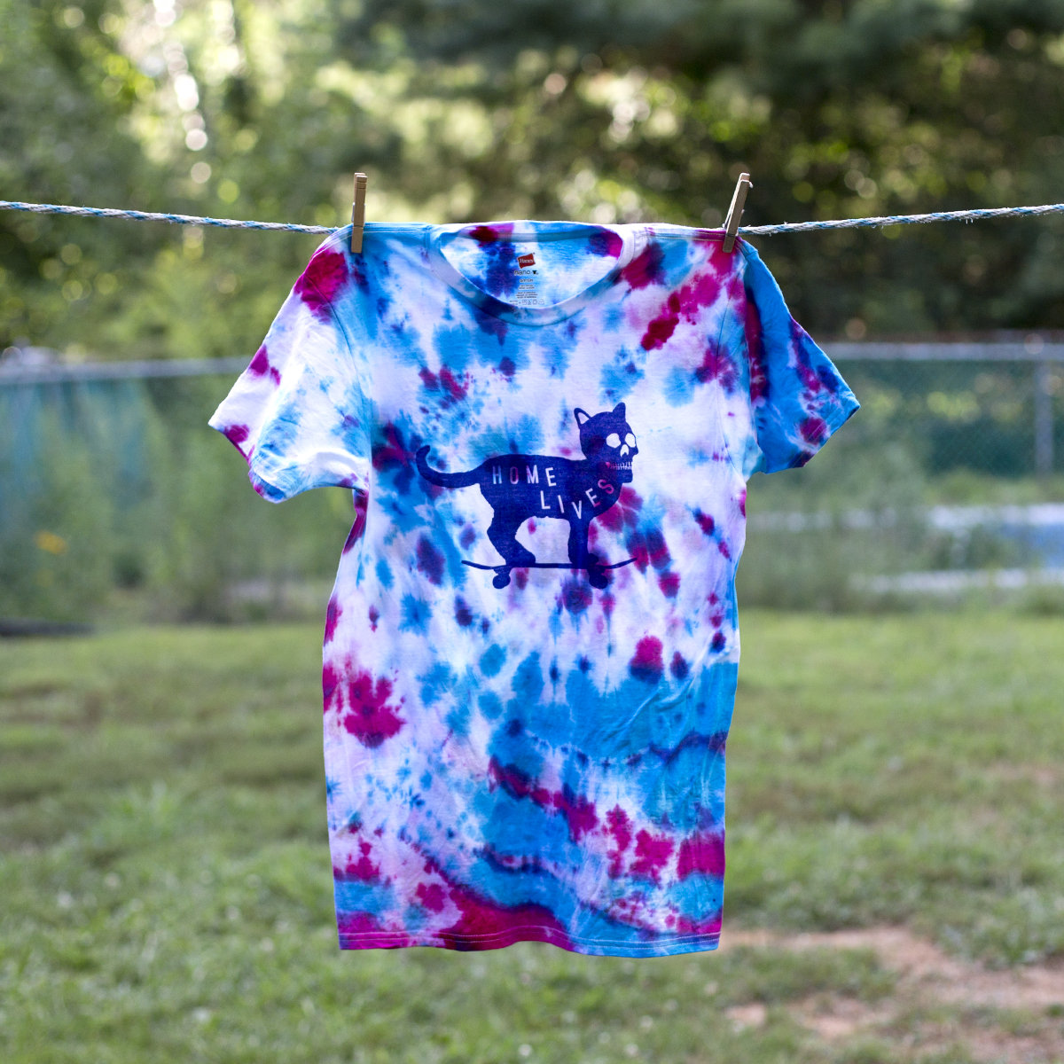 Cool Waves Kitty Cat Tie Dye Shirt Home Lives