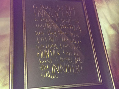 Lyric Prints in a frame main photo