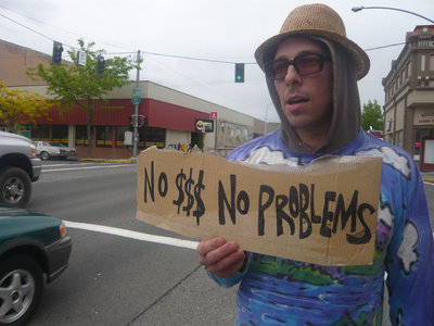 NO $$$ NO PROBLEMS (cardboard sign) main photo
