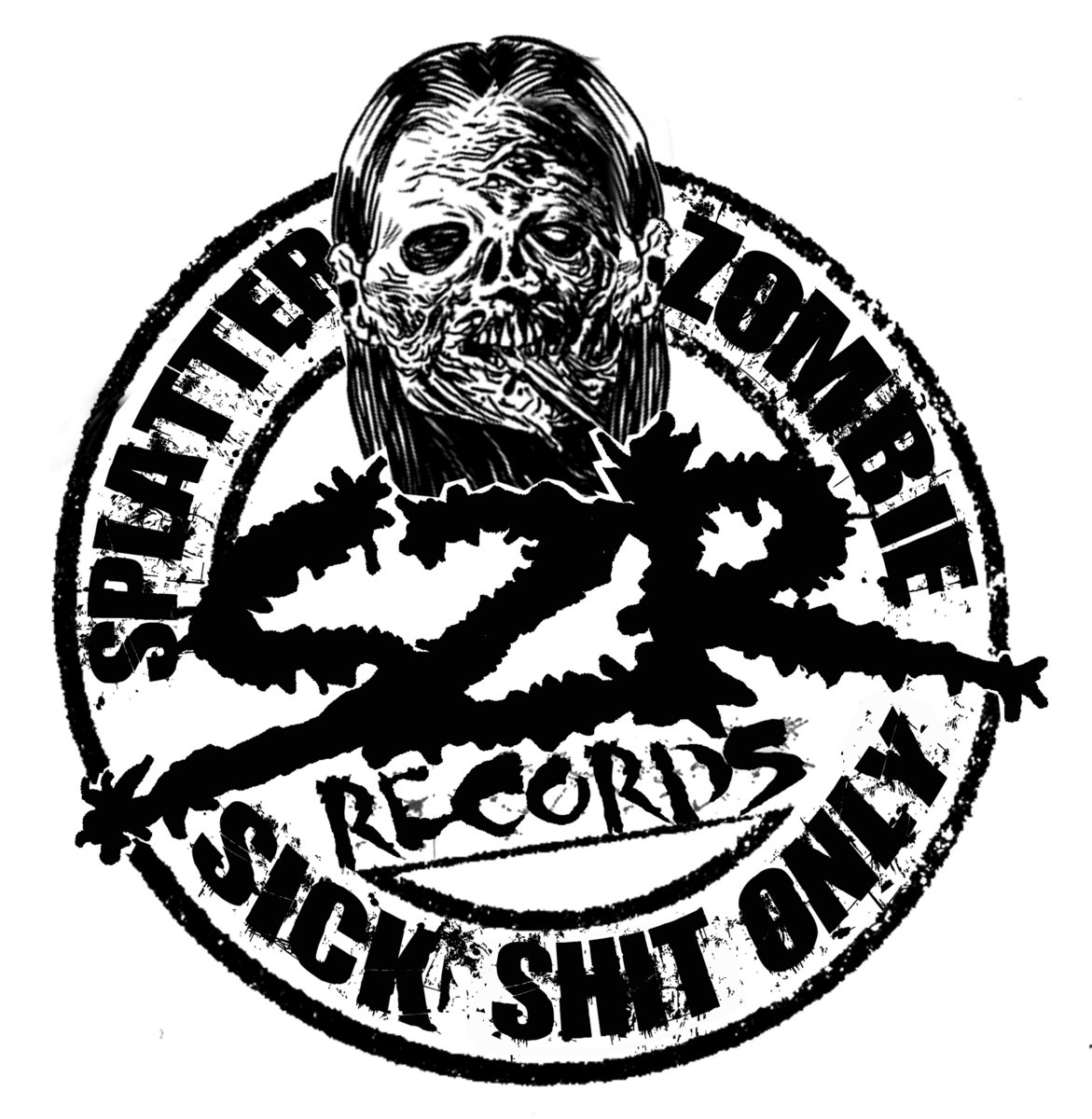 screaming mad gore splatter zombie records Radioactive Sign splatter zombie records image