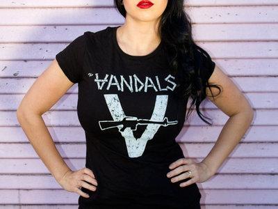 The Vandals: White Machine Gun Black Tee main photo