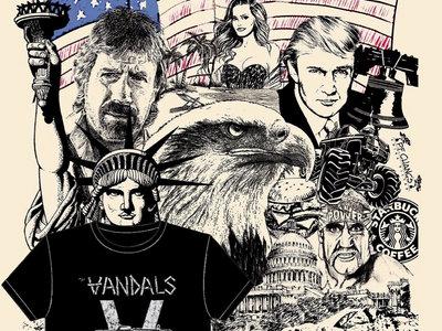 Vandals shirt PLUS limited Silk Screened Trump Vandals Poster $20! main photo