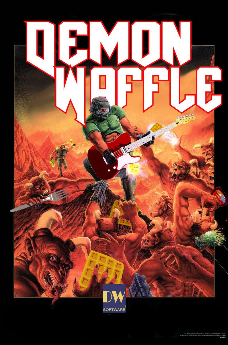 DW Doom Sticker (5-pack) | Demon Waffle