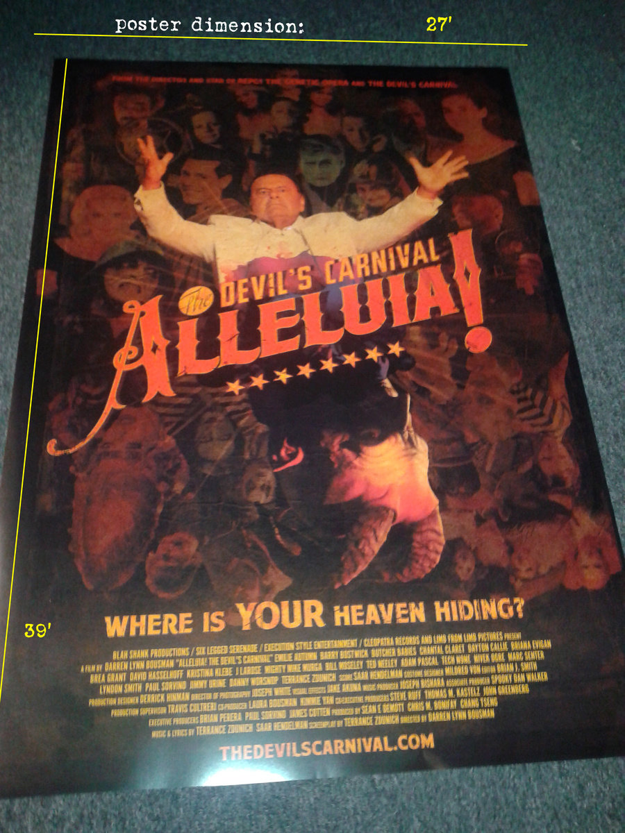 alleluia the devil s carnival limited edition movie poster 27x39