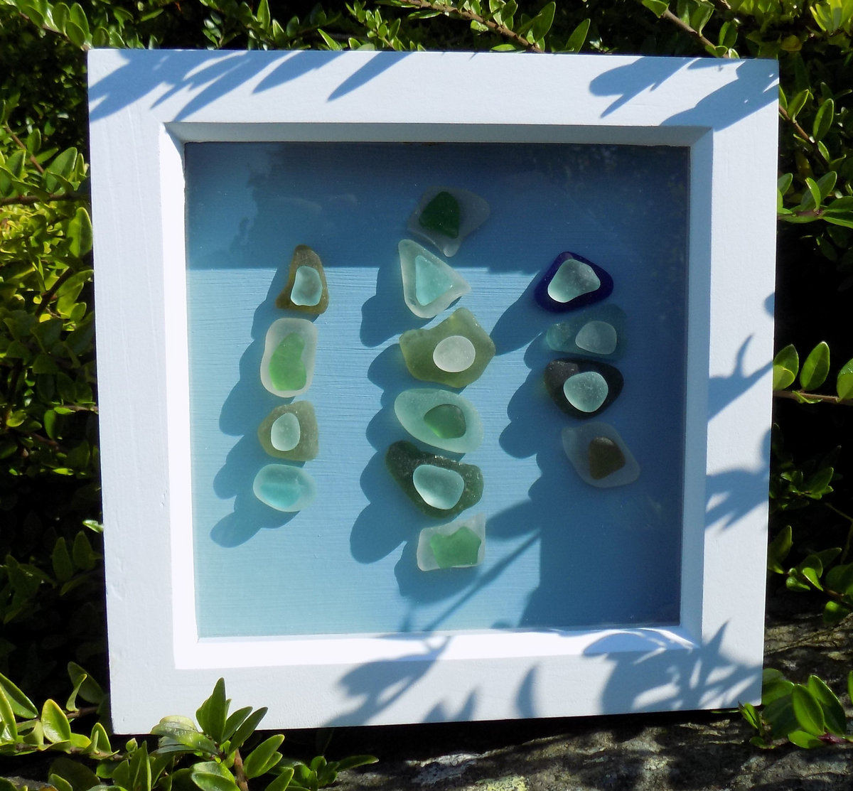 Unique Framed Sea Glass Artwork and Sea Glass Inspired Track ...