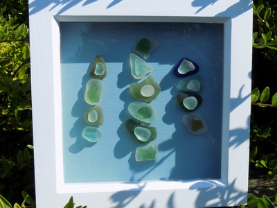 Unique Framed Sea Glass Artwork and Sea Glass Inspired Track / Download main photo