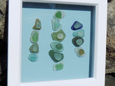 Unique Framed Sea Glass Artwork and Sea Glass Inspired Track / Download photo