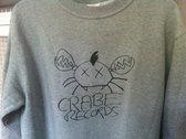 So 90s! CRABE Records heather grey logo sweatshirt photo