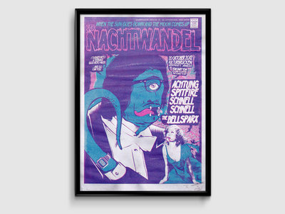 Silk-screened Gigposter for Nachtwandel Show main photo