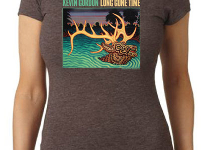 WOMEN'S Long Gone Time t-shirt (Brown or Black) main photo
