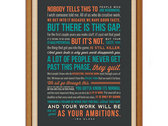 "Ira Glass Quote On Creativity Print (18"" x 24"") photo"