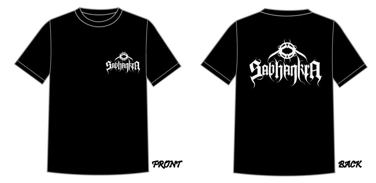 Black t shirt front back custom shirt for Custom t shirts front and back