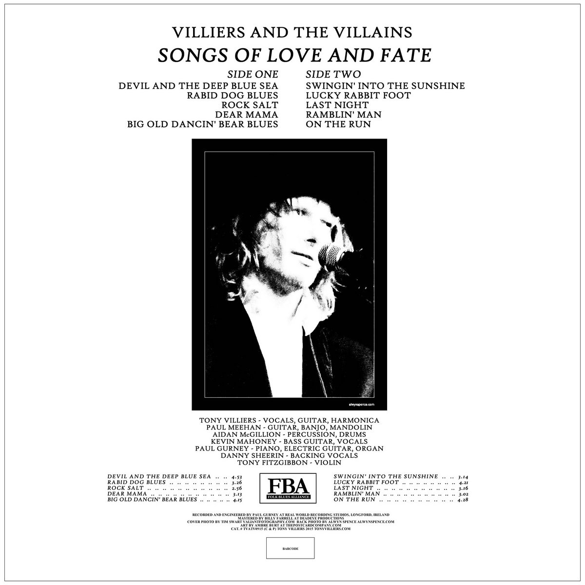 Songs of Love and Fate | VILLIERS AND THE VILLAINS
