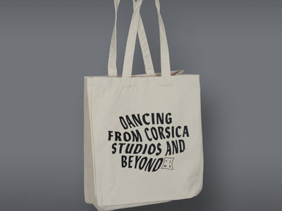 'Dancing from Corsica Studios..' High quality tote, cream main photo