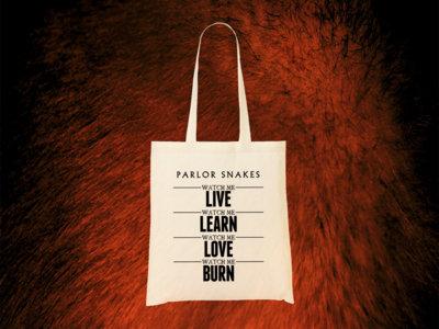 "Organic tote bag ""Watch Me Live"" main photo"