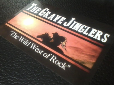 "The Grave Jinglers (""The Wild West of Rock"") 3 X 5"" Logo Sticker main photo"