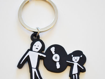 Father/Daughter Rubber Keychain main photo