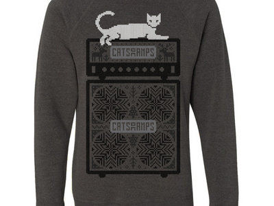 Cats On Amps Ugly Carbon Christmas Crewneck main photo