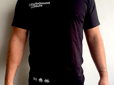 Limited Edition, Black, EarToGround - LDNwht combo shirt. 100% cotton Fruit of the Loom. Includes the three ETG Invaders. main photo