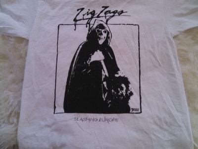 """Zig Zags """"Slashing Europe"""" European Tour T-shirt main photo"""