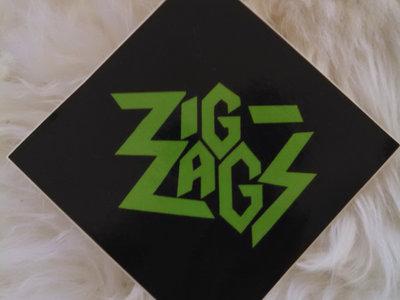"Zig Zags Logo Sticker ""Green"" main photo"