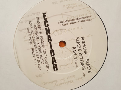 "Alumina: Simple Simplimental 12"" Vinyl Release main photo"
