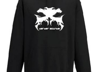 """Black Hoodie With WHITE Darker Sounds Logo and """"Daker Sounds"""" Txt main photo"""