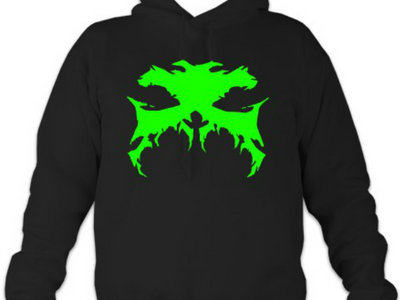 Black Hoodie With GREEN Hefty Logo main photo