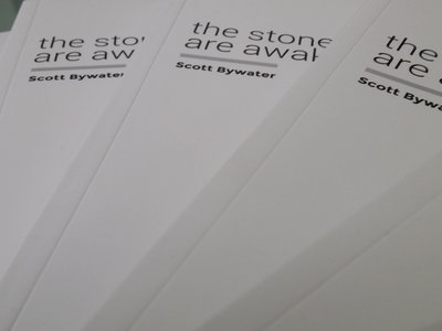 54 Page Colour Book 'the stones are awake' by Scott Bywater & Music by Warren Daly main photo