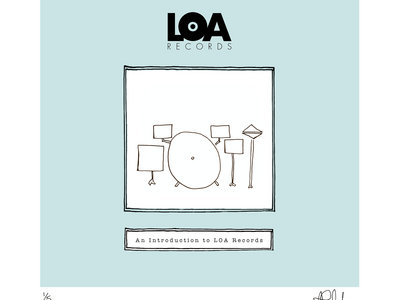 An Introduction To LOA Records - Limited Edition HAND DRAWN, SIGNED & NUMBERED 'DRUMS' Print main photo