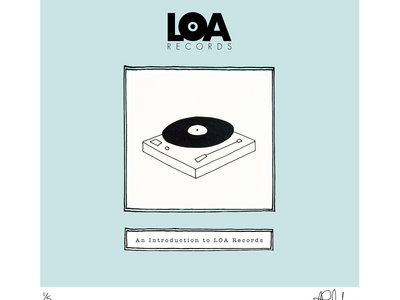 An Introduction To LOA Records - Limited Edition HAND DRAWN, SIGNED & NUMBERED 'TURNTABLE' Print main photo
