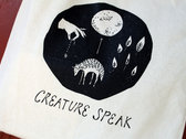 "LIMITED EDITION ""CREATURE SPEAK"" TOTE BAG photo"
