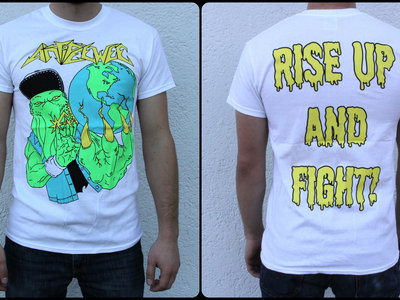 "Shirt ""Cthulhu Rise"" WHITE main photo"