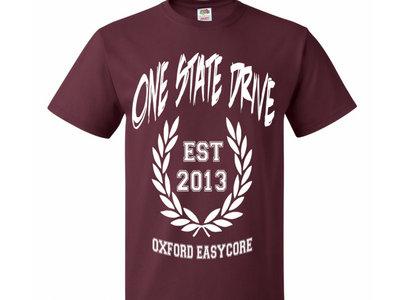 One State Drive T-Shirt Maroon main photo